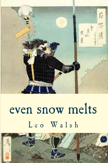 "Image: ""even snow melts"" book cover"