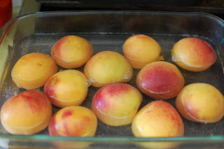 peaches, slip off skins