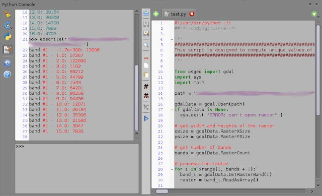 QGIS Python console view