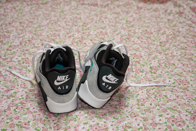 My Nike Air Max shoes Nike Air Max 90, mint, grey, black high street fashion, minted, Nike, shoes, UK fashion,  fashion blogger UK