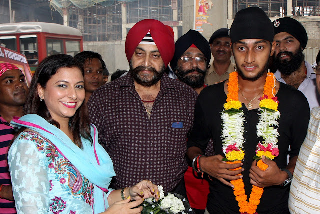 Gurpreet kaur Chaddha and Harmeet Singh with father