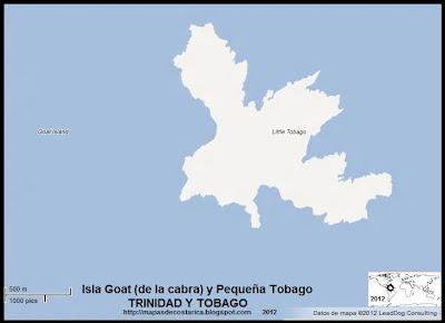 Isla Goat (de la cabra) y Pequeña Tobago, TRINIDAD Y TOBAGO,