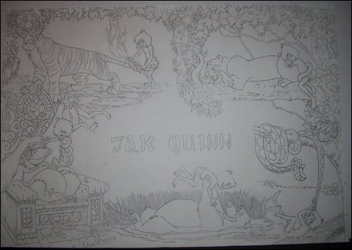 Jungle book drawing for my son Jak Quinn