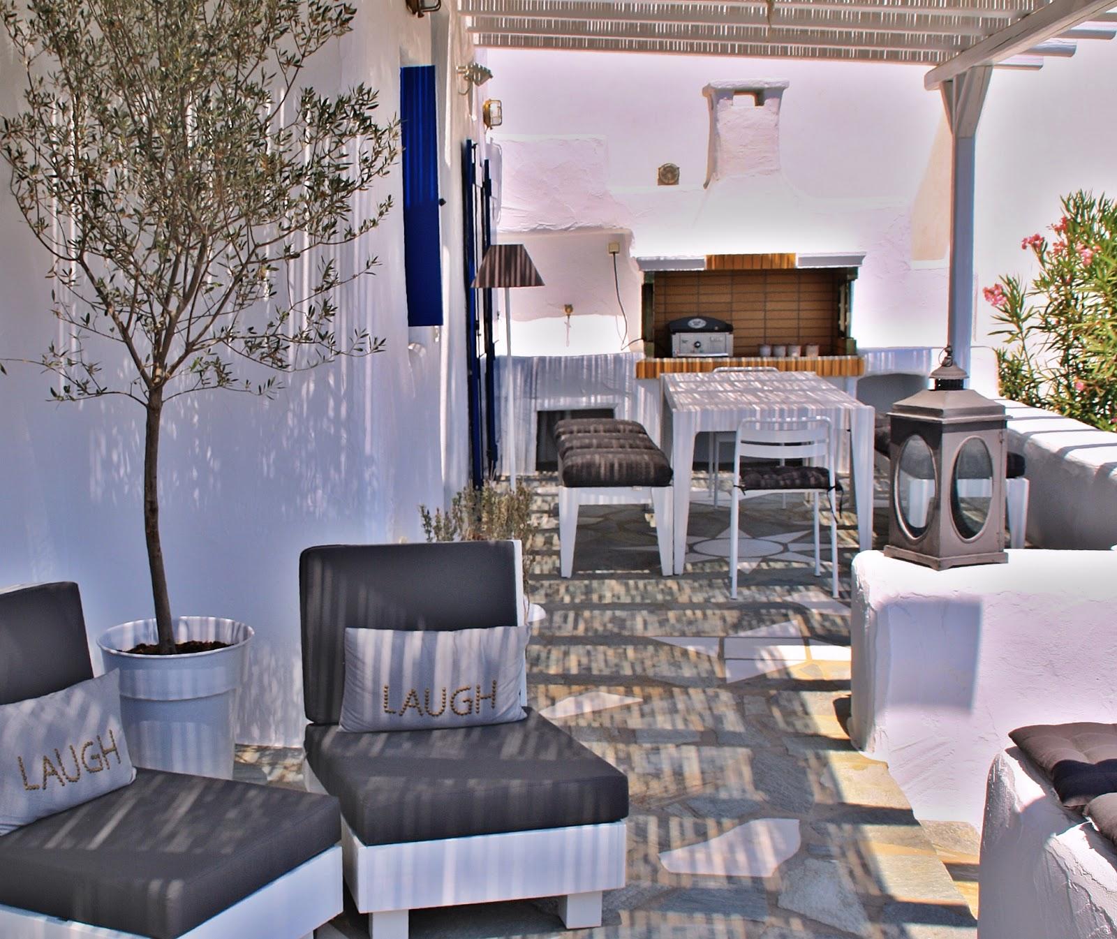 Inside Is Beautiful Greece Inside Outside Living Rooms