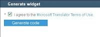 Microsoft® Translator Widget untuk Mentranslate Bahasa Halaman Blogs