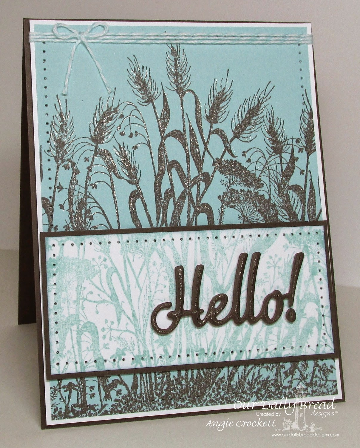 ODBD Custom Hello Die, ODBD Wildflower Silhouette Background, Card Designer Angie Crockett