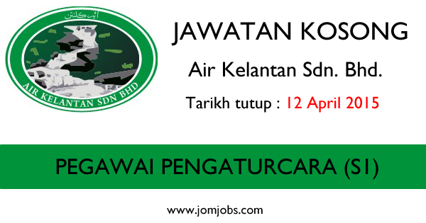 Jawatan Kosong Air Kelantan Sdn. Bhd.