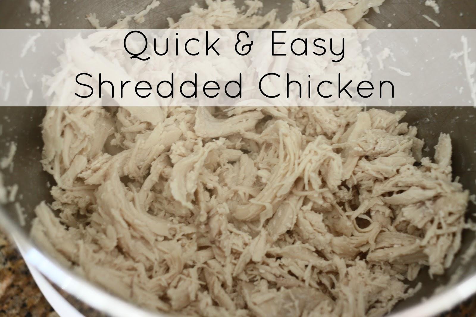how to make shredded chicken boil