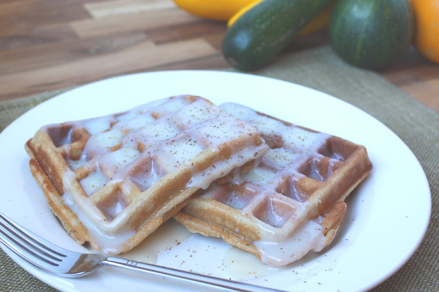 Brown Sugar and Spice Whole Wheat Zucchini Waffles recipe by Barefeet In The Kitchen