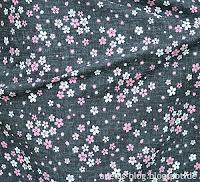 Stoff Kirschblüten