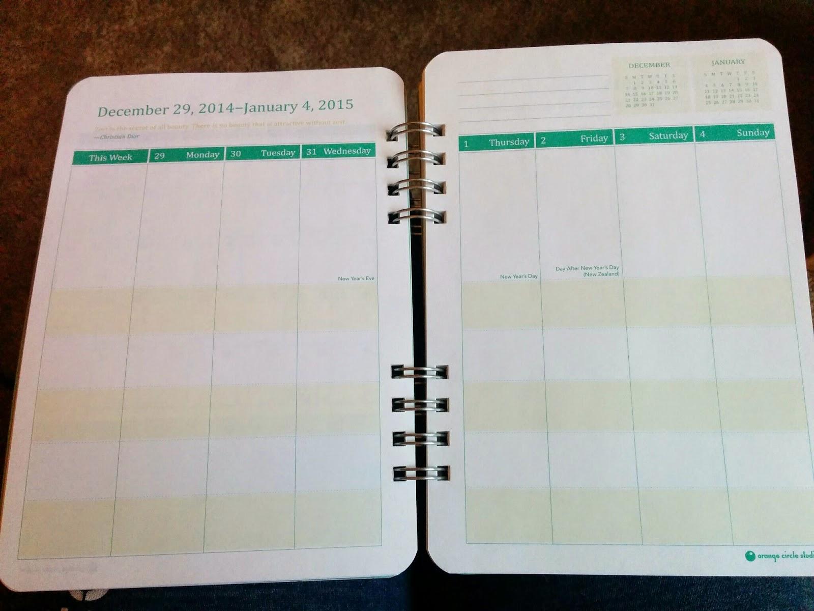 2015 planning calendar
