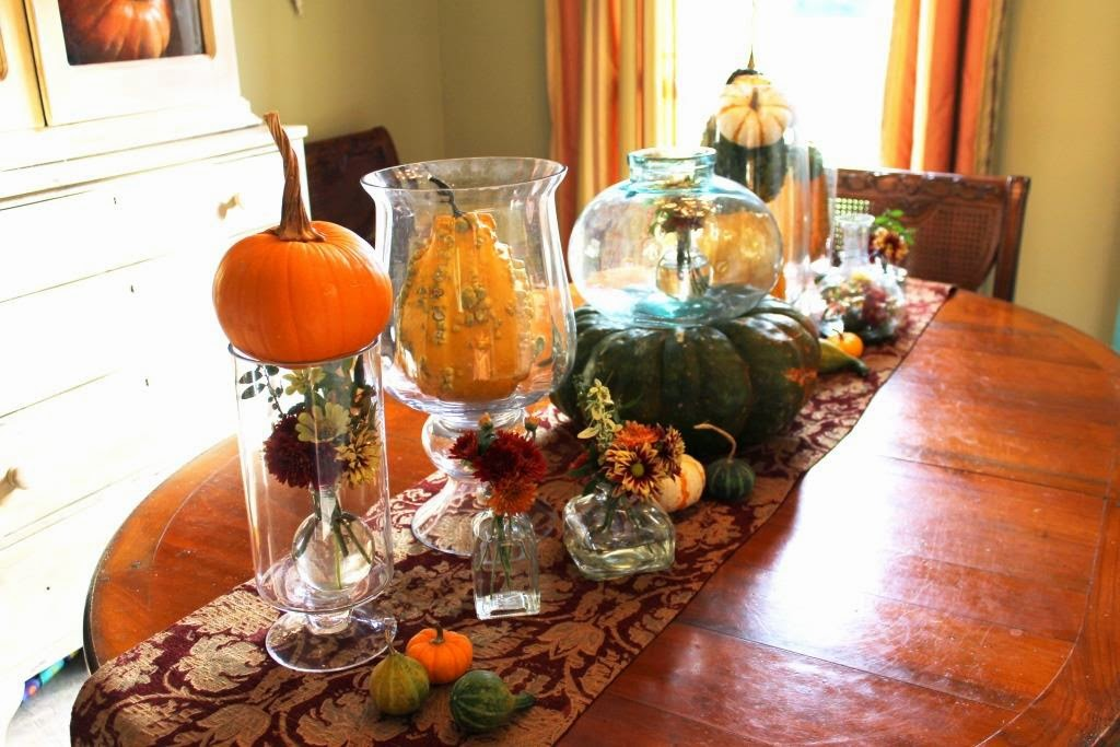 Gourds in glass a modern fall centerpiece miss kopy kat