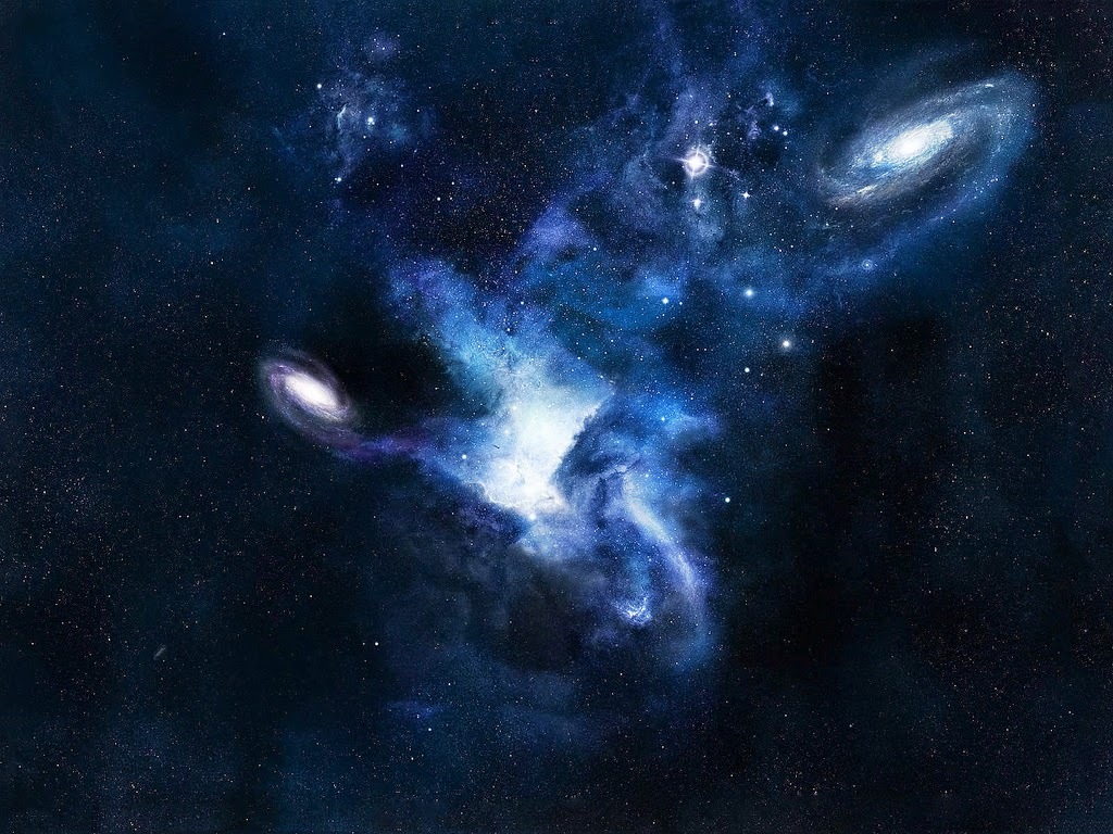 A picture of Space and Several Galaxies