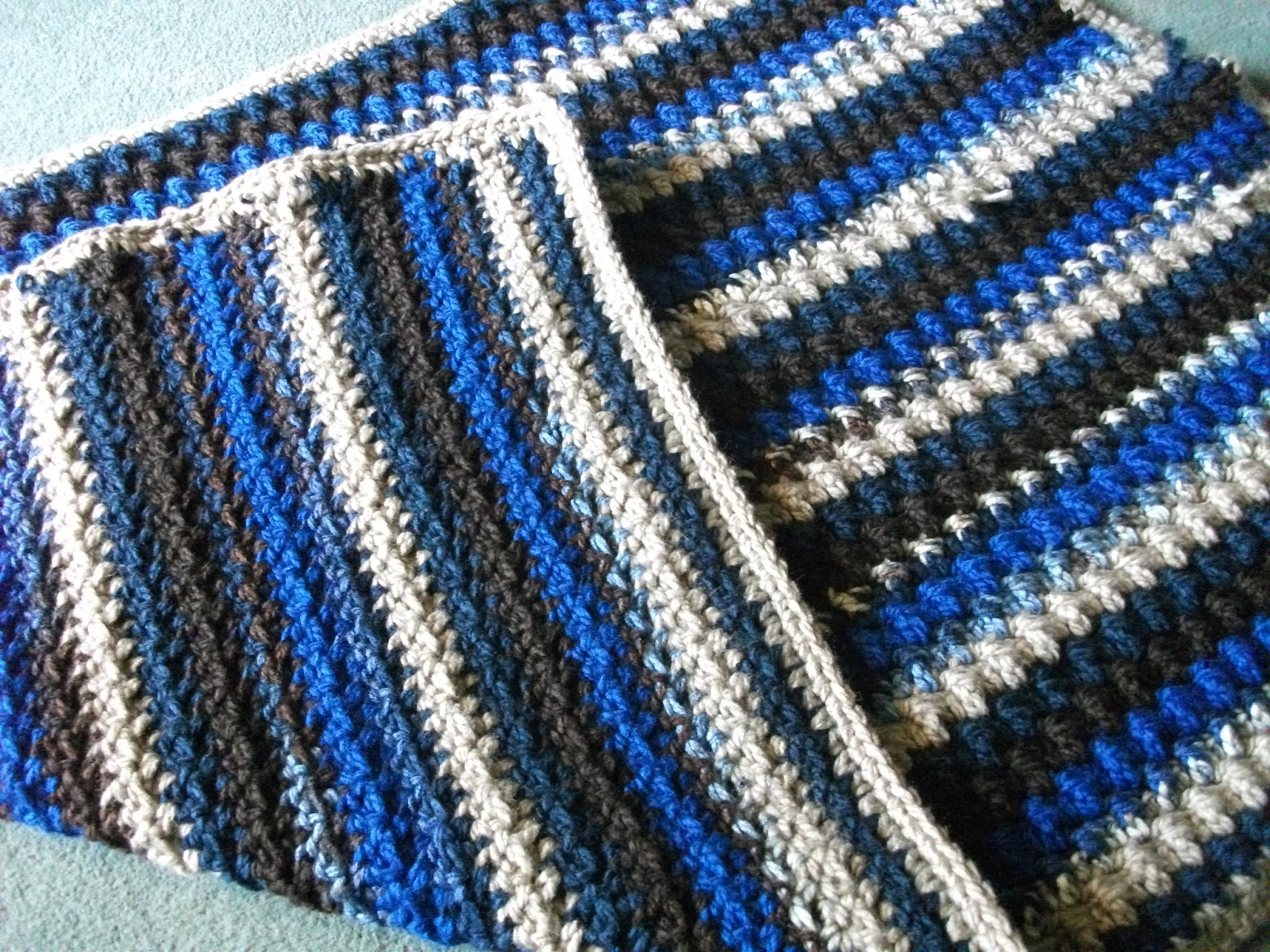 Crochet Stitches Instructions For Front-Post Double Crochet : YarnSkeink: Front Post Double Crochet Afghan