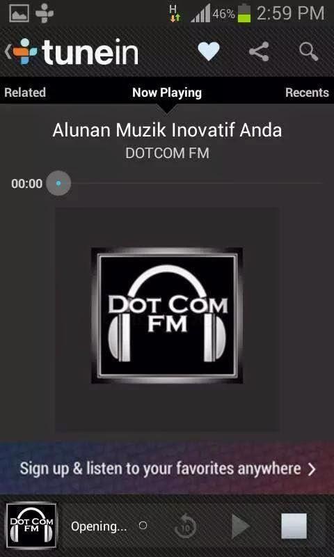 TUNEIN BERSAMA DotCom FM