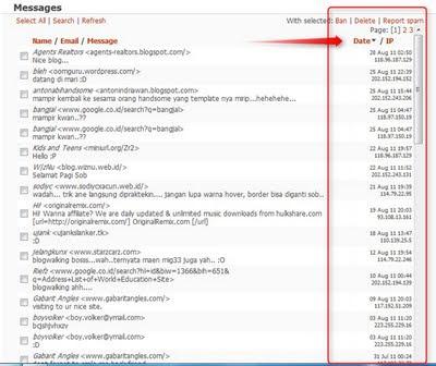 Cara menghapus pesan dan melihat IP Cbox