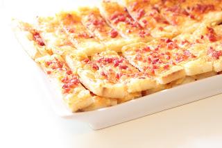 allumettes pate feuilletée fromage lardon