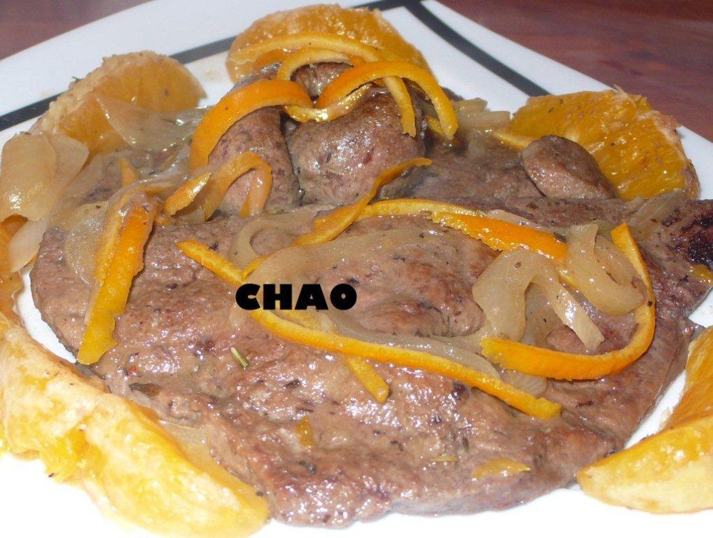 La cocina de chao h gado de ternera al aroma de naranja for Cocinar higado de ternera