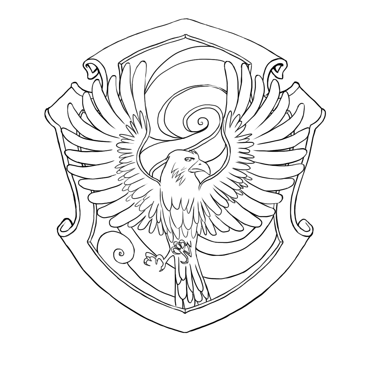 gryffindor crest coloring pages - photo#26