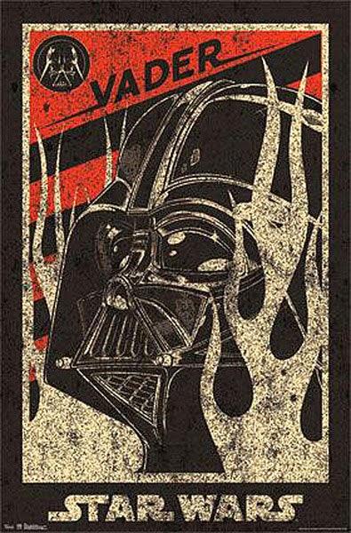 Poster Darth Vader estilo propaganda