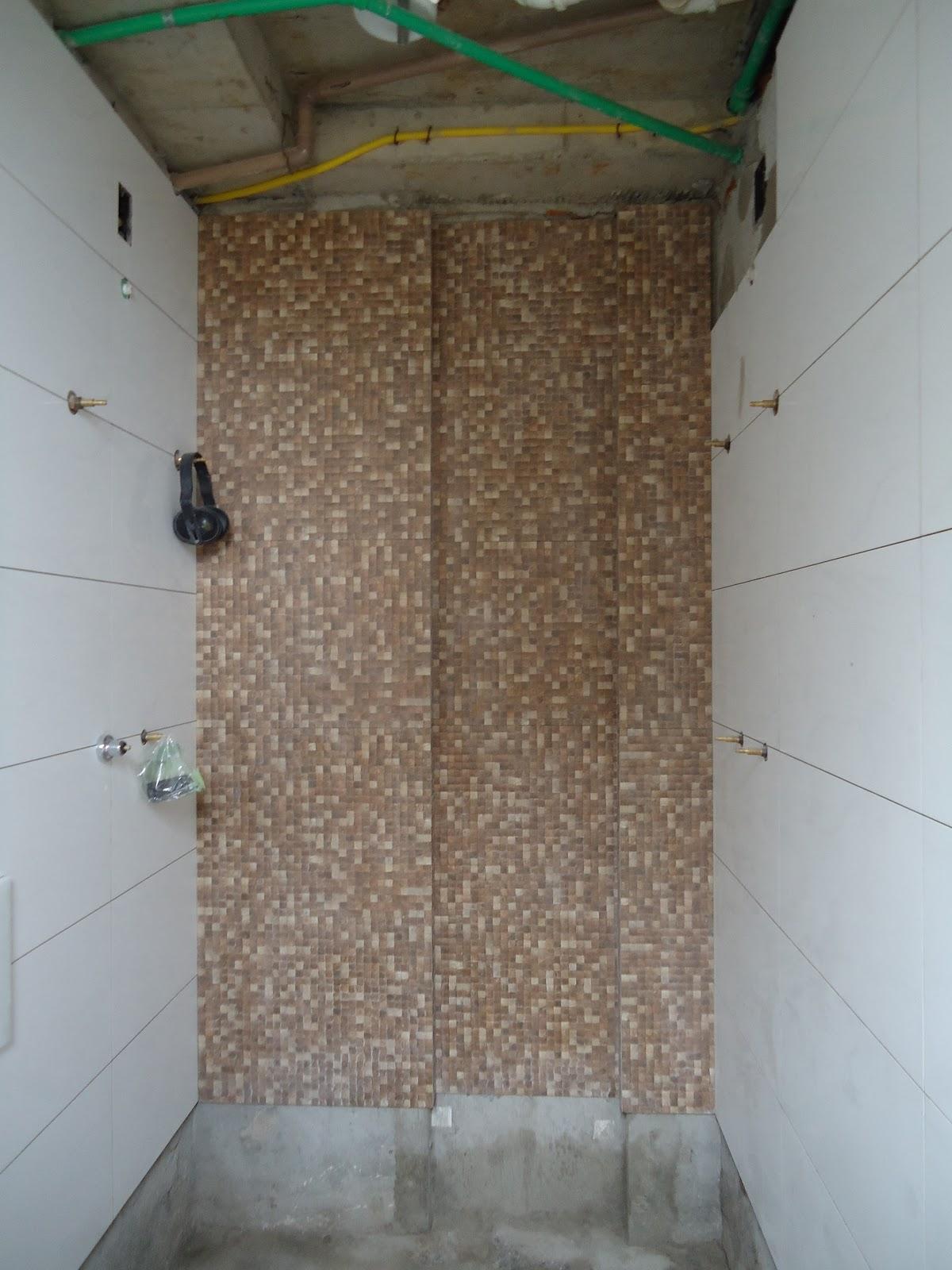 Como se começa uma FAMÍLIA: Banheiro Casal Fotos (durante) #186542 1200x1600 Banheiro Bege Com Nicho