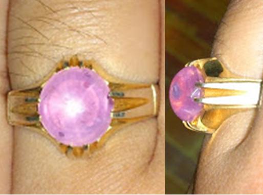 "Delima/Nilam Ungu pink CEYLON Asli ""kristal"""