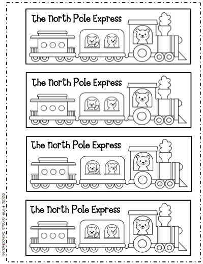 Polar Express Ticket Black and White