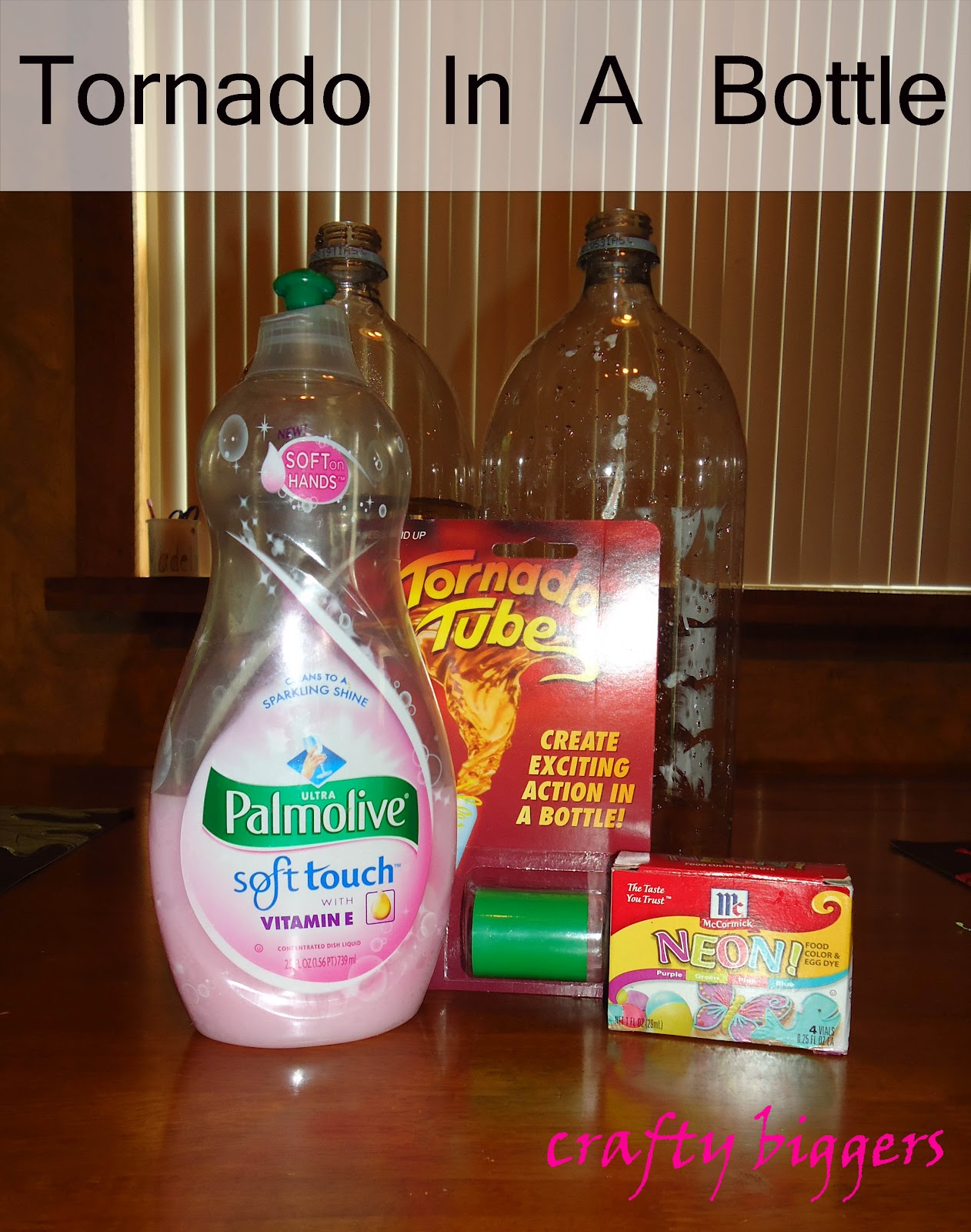 tornado in a bottle science project