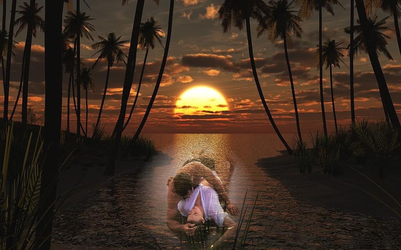 Imagini de Dragoste - Sunset Love