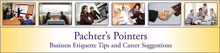 Barbara Pachter's Blog: Pachter's Pointers