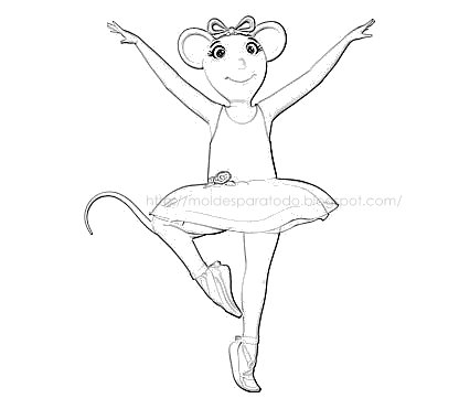 Dibujos para colorear de angelina ballerina - Imagui