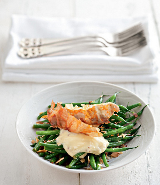 Lemony Green Beans with Frizzled Prosciutto, Fried Breadcrumbs and Aïoli