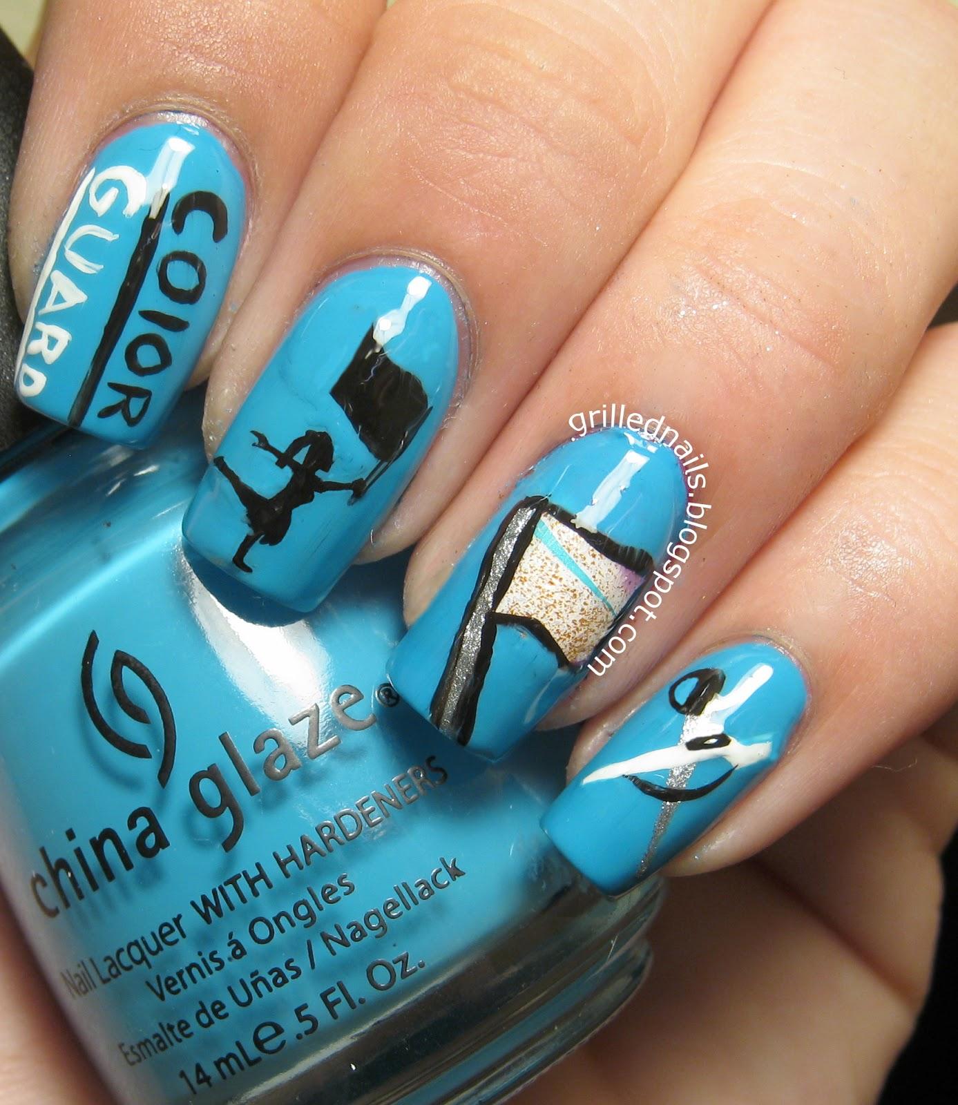 Color Guard Nail Art