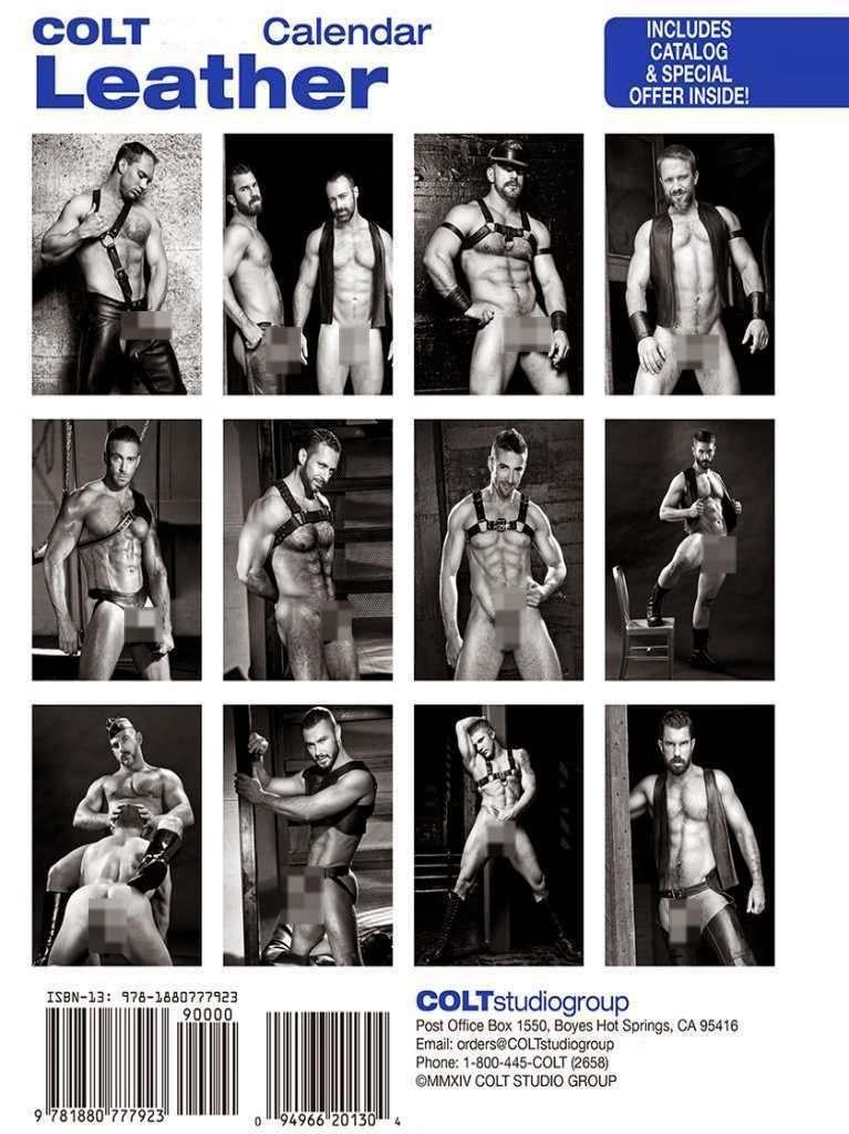 Leather 2015 Calendar COLT Back Gayrado