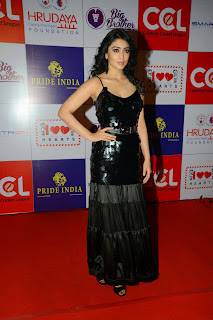 Actress Shriya Saran Latest Picture in Black Long Dress at CCL Charity Dinner 25