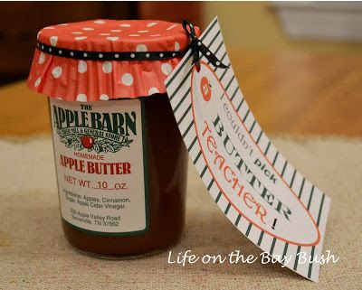 Apple Butter Teacher Gift and Printable