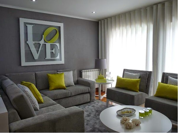 Idee Deco Chambre Bebe Fille :  des salons gris et vert ~ Décoration Salon  Décor de Salon