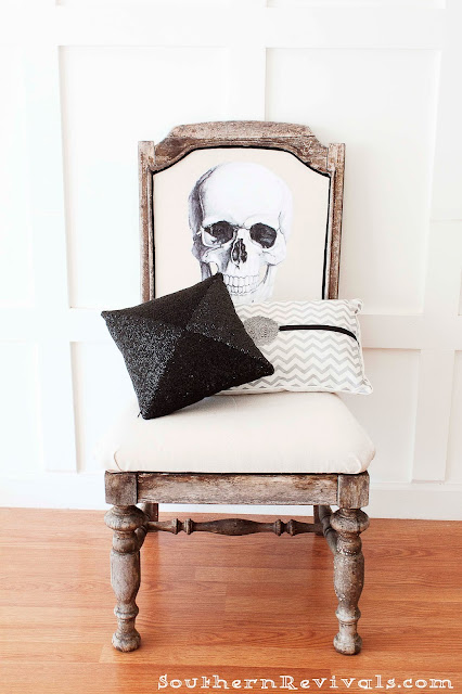 Halloween Skeleton Sitting In A Chair (14 Image)