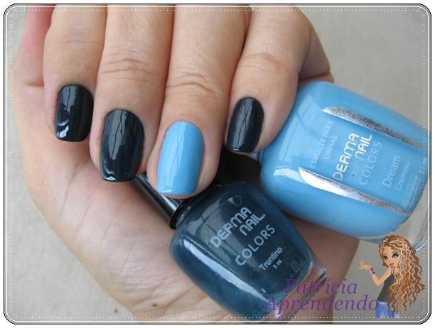 Combinação de azuis que ficou muito bonita.