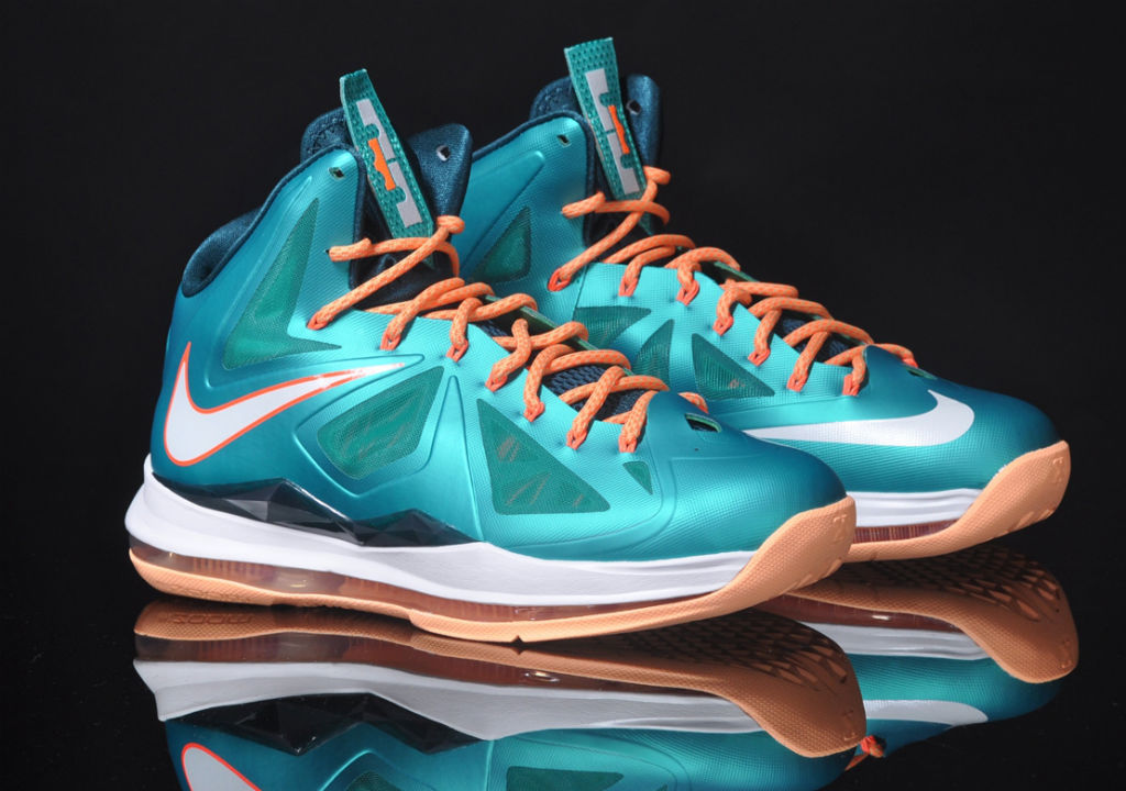 Nike Lebron X (10) Miami Dolphins/Sunset | First Images ...