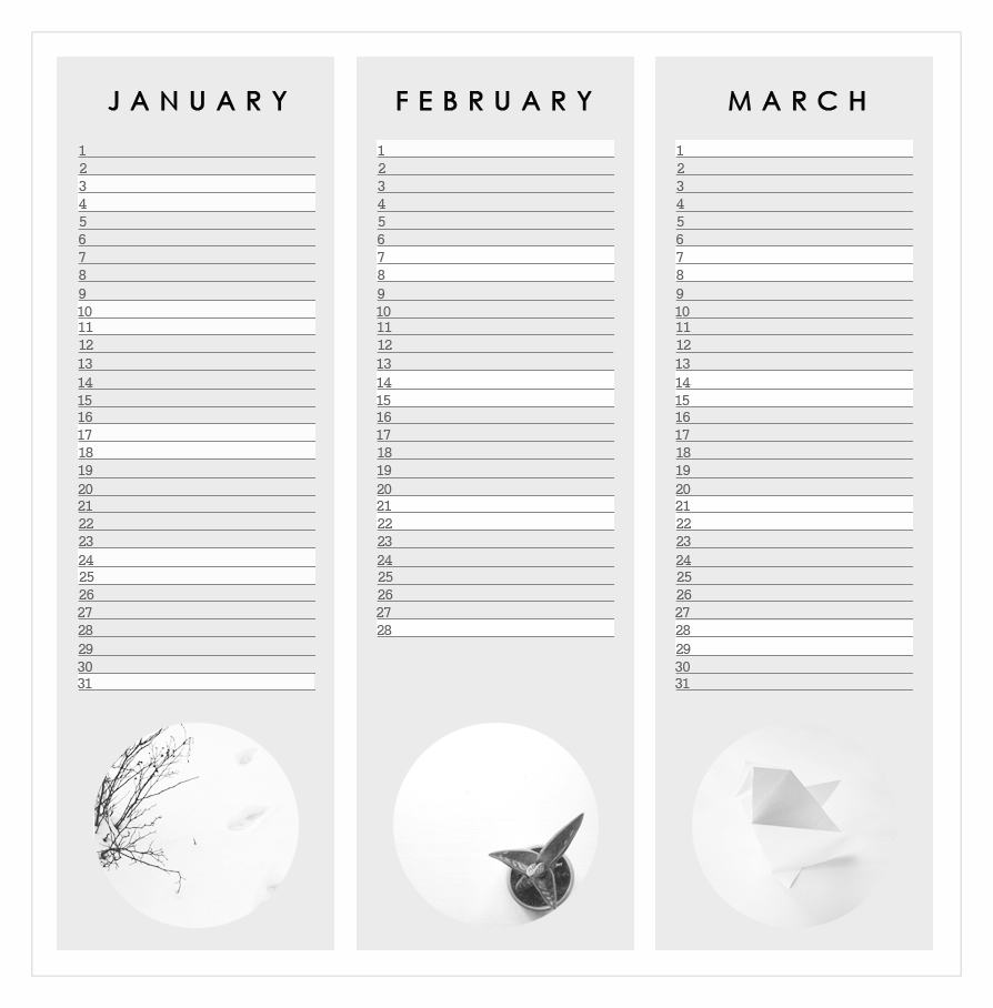 free home printable calendar 2015 graphic design grey january february march