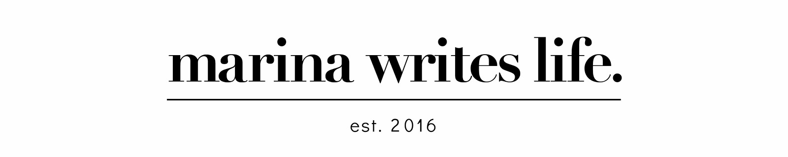 Marina Writes Life