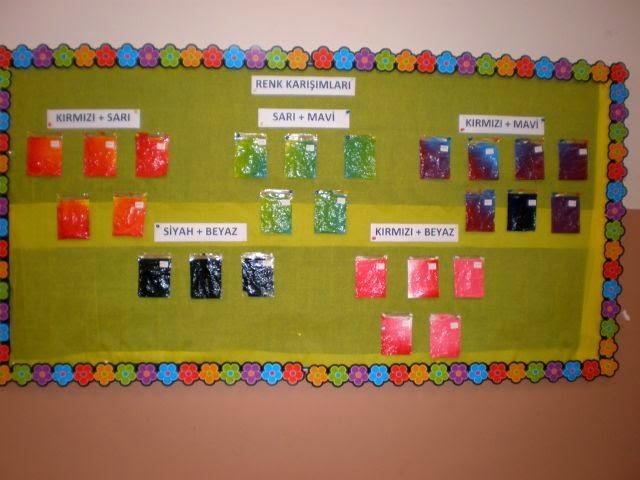 okul öncesi renk grafiği örnekleri,okul öncesi renkler kavramı