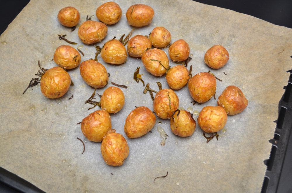 ovnsstekte poteter i skiver