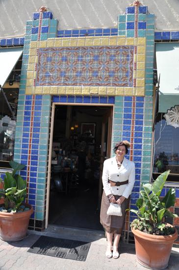 Catalina island tile 1920s dress