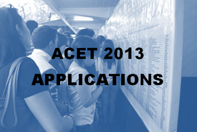 ACET applications for 2014-2015