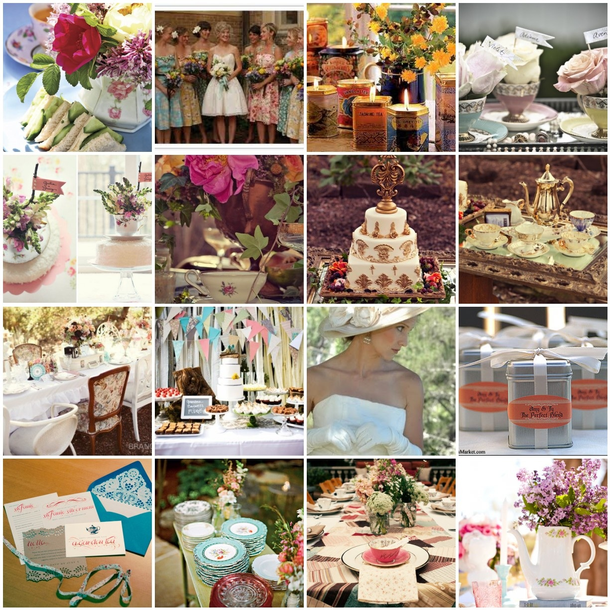 Vintage Tea Party Inspired Wedding
