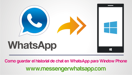 Como guardar el historial de chat en WhatsApp para Window Phone