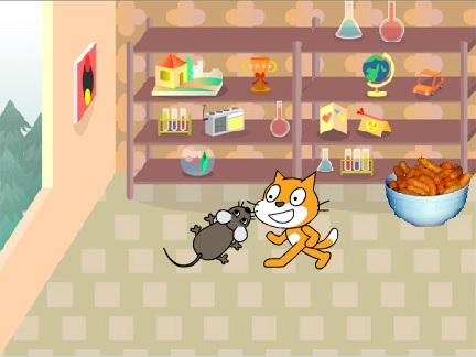 Kot goni mysz
