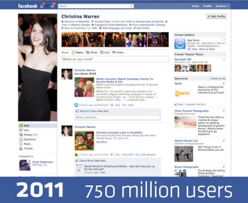 Confira os layouts do facebook de 2004 at a timeline for O architecture facebook